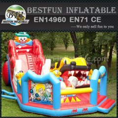 Extreme inflatable clown slide