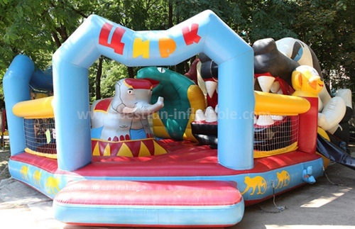 Inflatable clown character slide