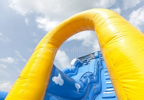 Inflatable commercial classic slide