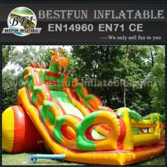 Inflatable dino park slide