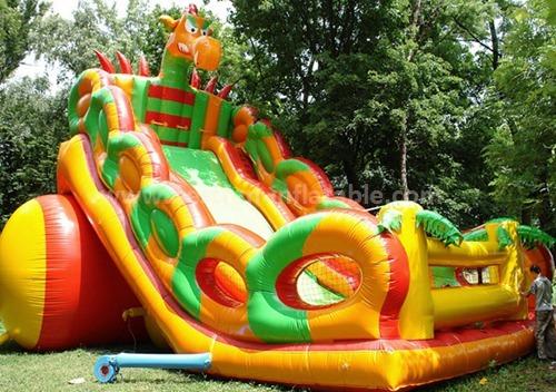 Inflatable dino sun slide