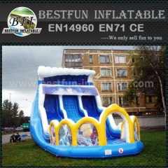 Inflatable double lanes slide