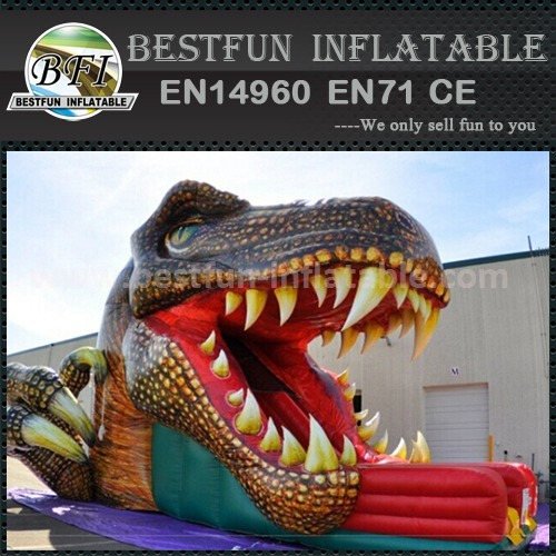 Inflatable dinosaur jumping slides
