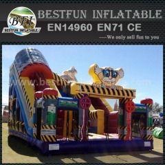 Inflatable dry bass slide