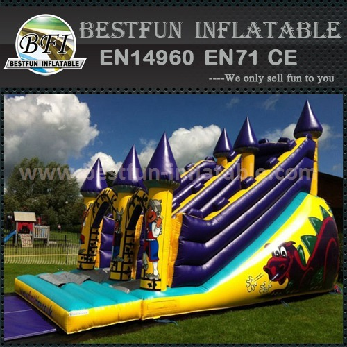 Inflatable dry slide for sale