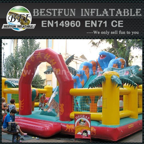Inflatable animal single slide