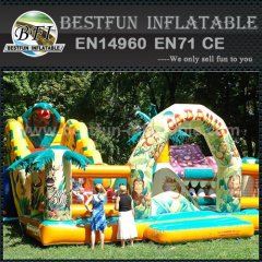 Attractive and new inflatable dry slide
