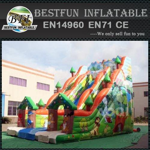 Construction worker inflatable slide