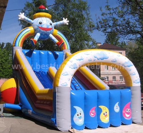 Inflatable kids slide play