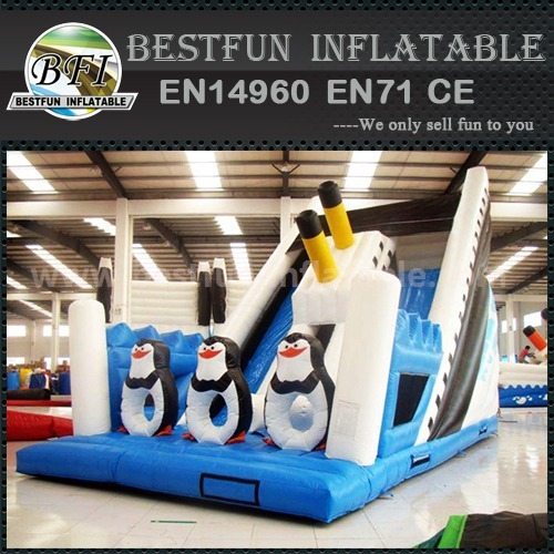 Inflatable titanic giant slide