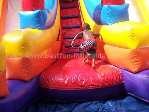 Inflatable marble flame slide