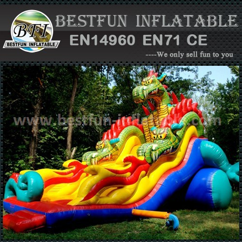 Inflatable jump and slide party