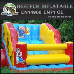 Inflatable rain forest slide