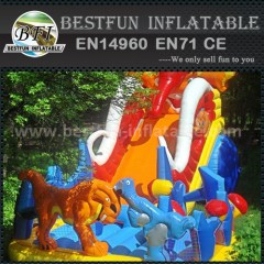 Outdoor ice age inflatable slide for kids