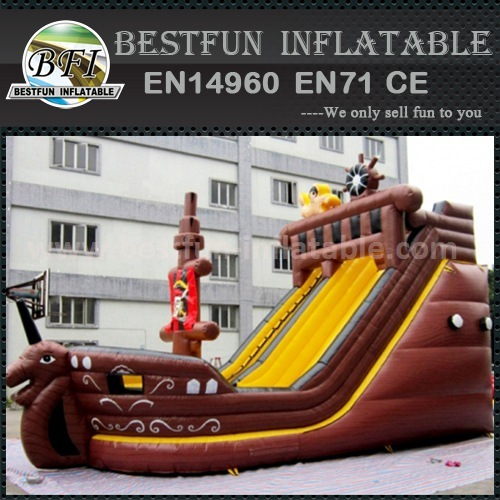 Inflatable moving stairs slide