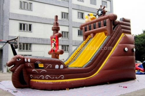 Inflatable pirate ship slide games