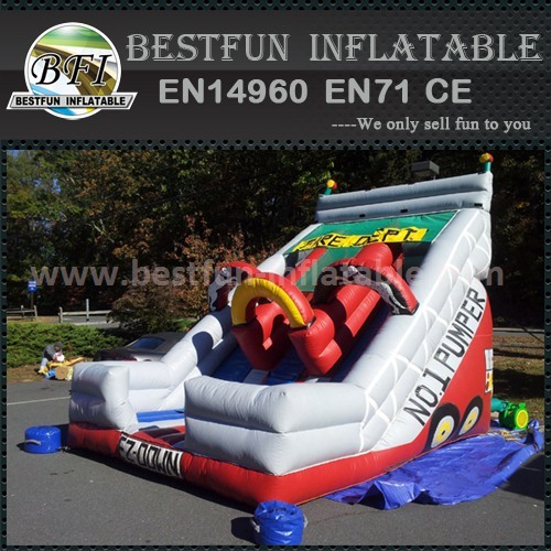 Inflatable slide and climb bouncer