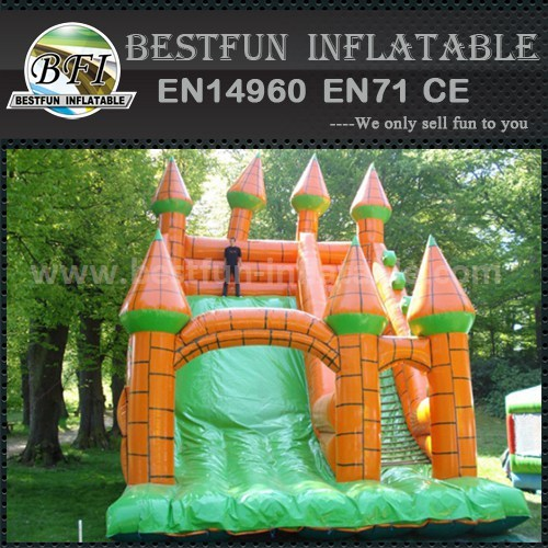 Commercial inflatable slide bounce