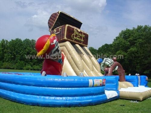 Inflatable skull classic slide