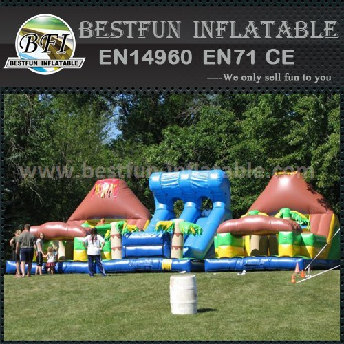 Inflatable kids trampoline slide