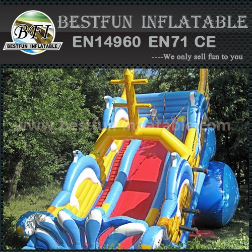 Inflatable boat slide for children