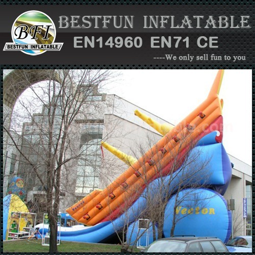 Buccaneering ship inflatable slide