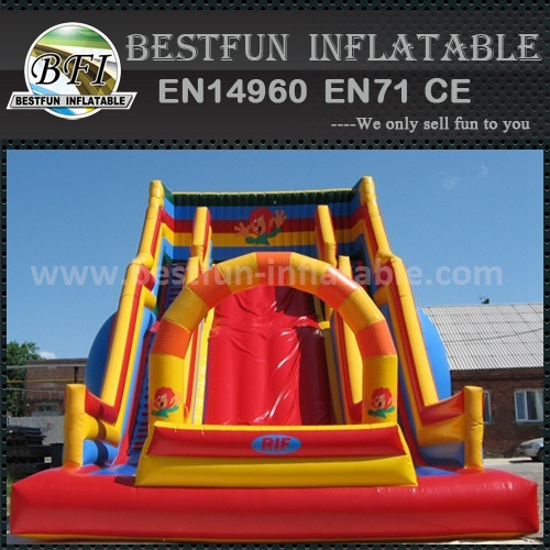 Kids outdoor game inflatable slide