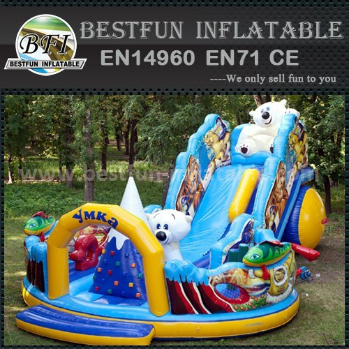 Inflatable sport slide game