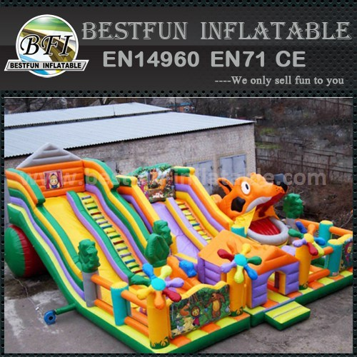 Inflatable slide obstacle course