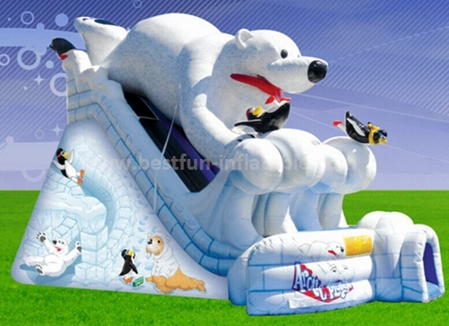 Inflatable snow white slide