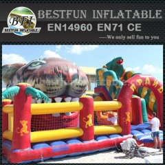 Inflatable animal shape slide