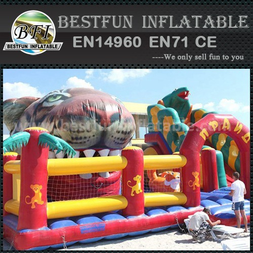 Inflatable animal shape slide