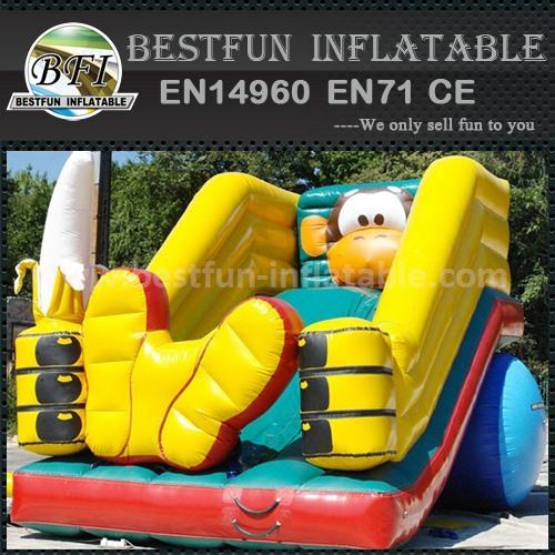 Kids cartoon inflatable slide