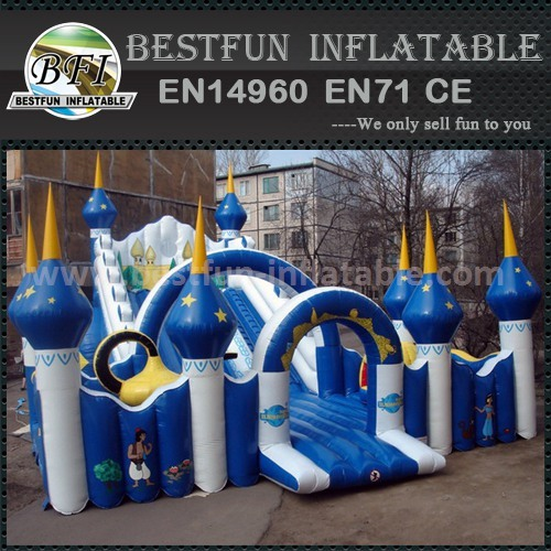 PVC inflatable slide blue