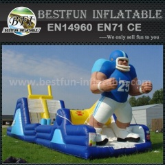 Large inflatable jumping slides