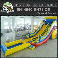 Mini inflatable pool slides