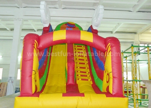 New dual lanes cheap inflatable slide