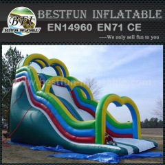 Crazy challenge inflatable slide