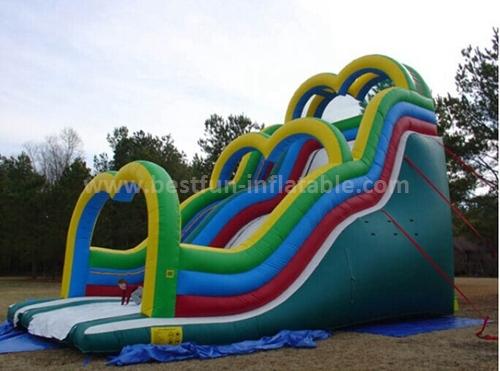 Outdoor inflatable cartoon slide