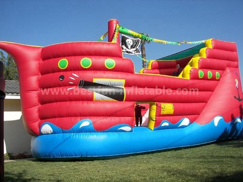 Pirate ship giant inflatable slide