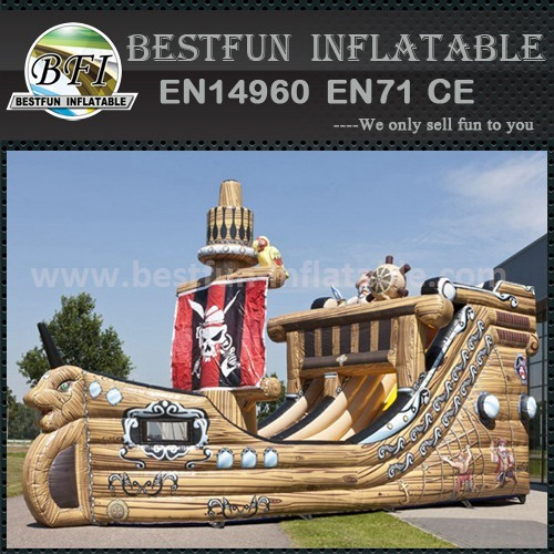 Three way inflatable slide
