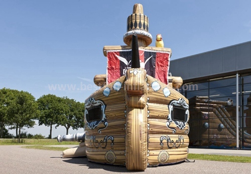 Pirate ship inflatable slide