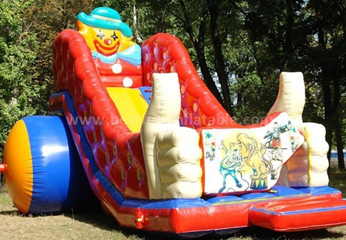 Red small inflatable dry slide for fun