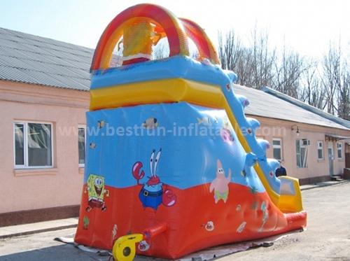 Safety inflatable slide for kids