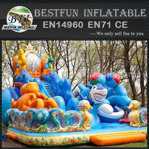 Inflatable ocean themed slide