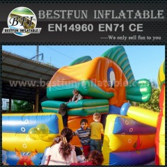 Ocean animal inflatable slide
