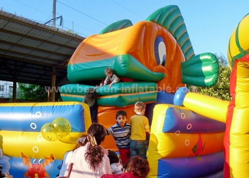 Snappy fish inflatable slide for sale