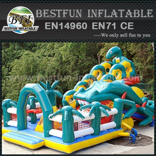 The Forest Animal theme inflatable slide