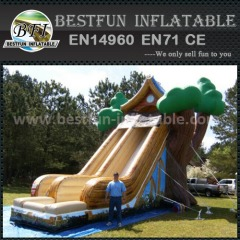 Inflatable tree house slide