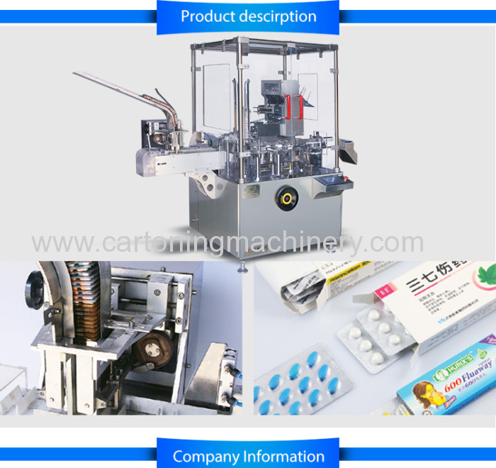 Automatic cartonermachine for pharmacy blister